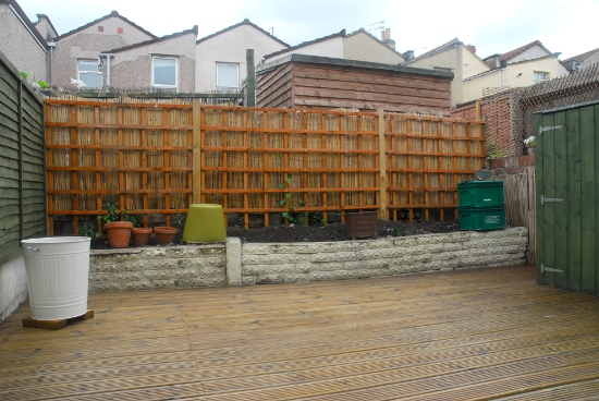 The bare garden, when we started to work on it